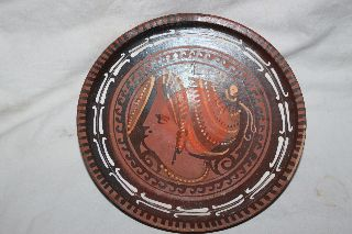 Ancient Greek Pottery Red Figure Plate 4th Century Bc photo