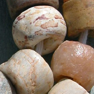 A Strand Of Ancient Cylindrical Neolithic Agate Quartz Stone Beads Mali 215 photo