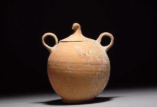 Rare Ancient Greek Canosan Pottery ' Dummy ' Pyxis photo