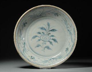 Hoi An Hoard Shipwreck Museum Quality Artifact Peony Plate photo
