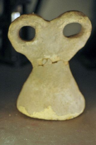 Eye Idol,  Levantine Bronze Age Clay Over 3000 Years Old photo