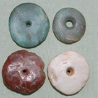 4 Huge Ancient Neolithic Disc Shaped Stone Beads Sub Sahara Mali 64 photo