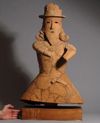 Ancient Japanese Kofun Period Pottery Haniwa Figure photo