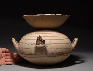 Ancient Greek Apulian Daunian Pottery Olla photo