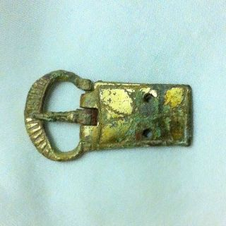 Medieval.  Decorated Buckle And Plate.  Late 13th Century photo