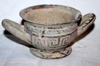 Rare Ancient Greek Daunian Pottery Kylix 5th Century Bc photo
