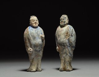 Ancient Chinese Northern Zhou Pottery Statues - Pre Tang Guardian Figures photo