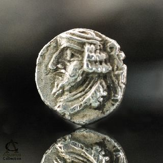 Ancient Silver Coin Rare Early Indo Parthian Kingdom Small Obol Drachma 0.  57 G photo