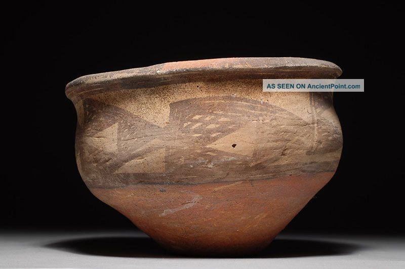 Ancient Persian Geometric Pottery Carinated Vessel Bowl Near Eastern photo
