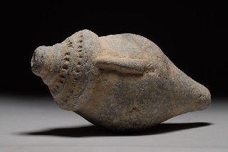 Ancient Islamic Terracotta Perfume Bottle Vessel photo