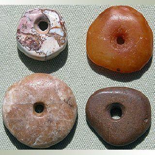 4 Extra Fine Neolithic Agate Stone Beads Sub Sahara Mali 53 photo