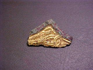 Saxon Gilded Chip Carved Plaque Fragment photo