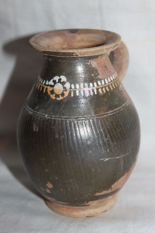 Ancient Greek Pottery Gnathian Olpe 4th Century Bc photo