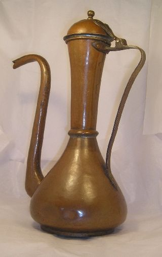 Vintage Islamic Copper Vessel C34 photo