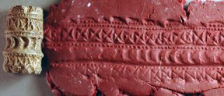 Rolling Stamp,  Levantine Iron Age Stone Over 2000 Years Old photo