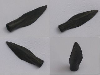 Quality Ancient Greek Bronze Arrow Head Dating From 100 - 50 Bc. photo