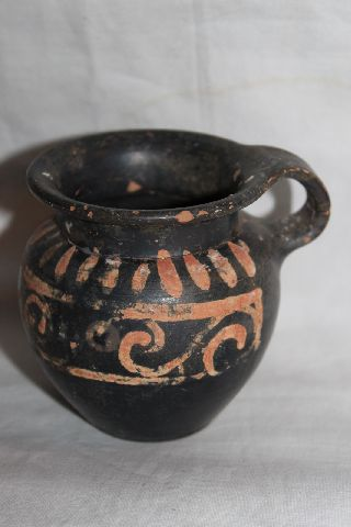 Ancient Greek Pottery Xenon Olpe 4thcentury Bc photo