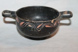 Ancient Greek Pottery Gnathian Kylix 4th Bc Wine Cup photo