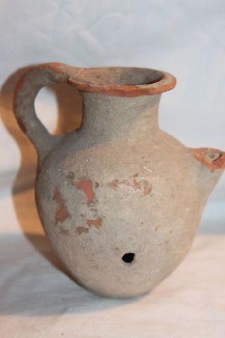 Ancient Near Eastern Holyland Pottery Feeder C.  1st Century Bc/ad photo