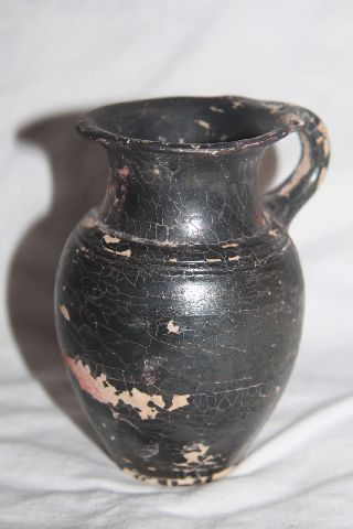 Ancient Greek Hellenistic Pottery Olpe Mug 3rd Century Bc photo