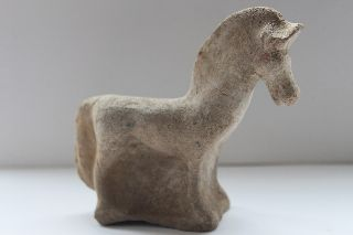 Ancient Greek Pottery Canosan Hellenistic Horse Figure 3rd Cent Bc Equestrian photo