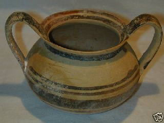 Ancient Greek Daunian Pottery Kantharos 5th Cent Bc photo