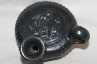 Ancient Greek Pottery Guttus Oil Lamp Filler 4th C.  Bc photo