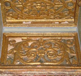 + - 2meter Shelf Ottoman 18th Century Wooden Gilded Stucco. .  Raf Osmanlı photo