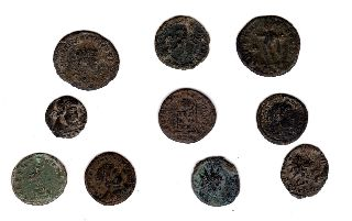 A Group Of Roman Coins Found In Norfolk. photo