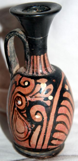 Ancient Greek Pottery Red Figure Lekythos 4th Century Bc photo