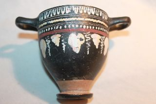 Quality Ancient Skyphos Greek Pottery 4th Bc Wine Cup photo