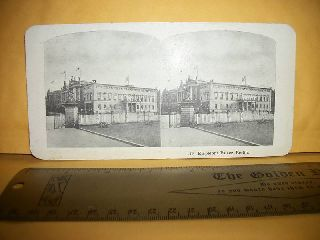 Antique Berlin Palace Stereoview Card Photo Palestine Mount Olives Stereo View photo