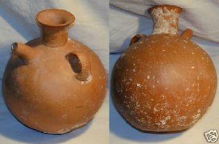 Ancient Greek Cypriot Feeder Askos C.  1500 Bc photo