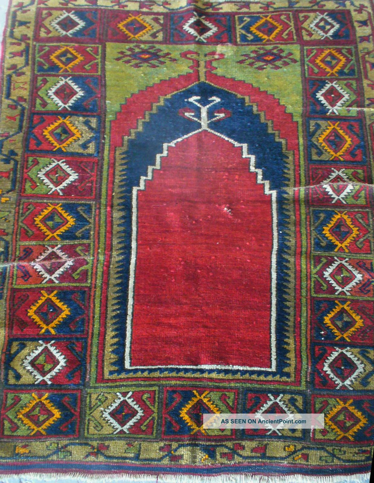 Late 19th Century Antique Turkish Prayer Rug - Reading Pa Estate Find Medium (4x6-6x9) photo