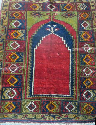 Late 19th Century Antique Turkish Prayer Rug - Reading Pa Estate Find photo