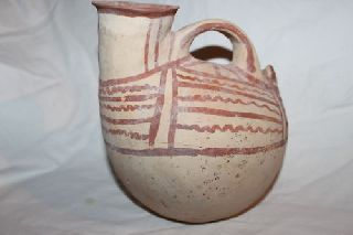 Ancient Greek Pottery Daunian Askos 6th C Bc photo
