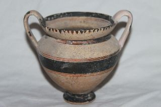Ancient Greek Hellenistic Pottery Kantharos 3rd Cent Bc photo