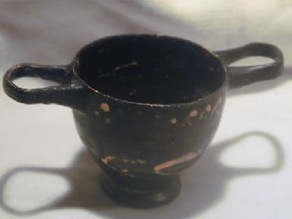 Ancient Greek Pottery Xenon Skyphos 4th Bc Wine Cup photo