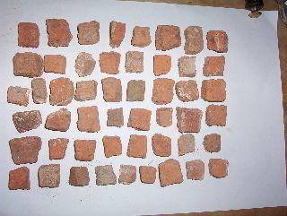 50 Roman Tile Tessarae C.  (3rd A.  D.  Mosaic Norfolk photo
