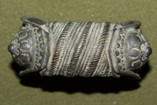 Antique Medieval Greek Folk Fertility Bronze Bracelet photo
