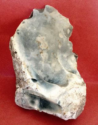 Flake Knife ~ Neolithic Flint ~ Cranborne Chase,  Dorset,  Uk photo