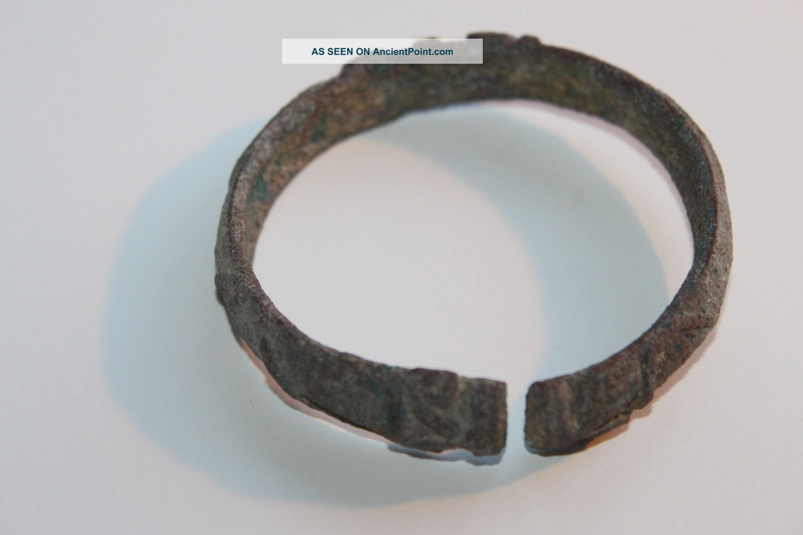 Ancient Luristan Bronze Bangle Bracelet 900 Bc Near Eastern photo