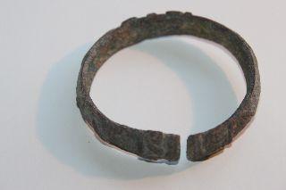 Ancient Luristan Bronze Bangle Bracelet 900 Bc photo
