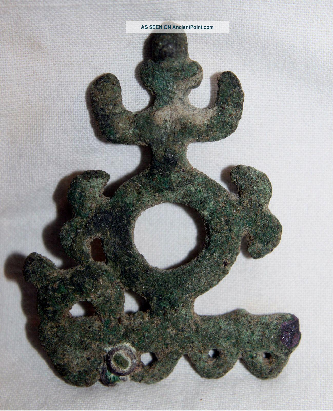 Ancient Luristan Bronze Fetish Idol C.  1000 Bc Near Eastern photo
