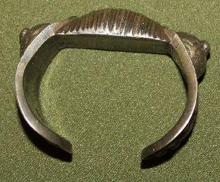 Antique Medieval Greek Folk Silverplated Fertility Bracelet photo