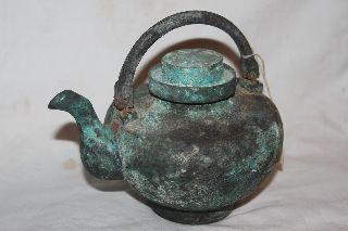 Rare Chinese Han Dynasty Bronze Tea Pot C.  200 Bc - 220 Ad photo