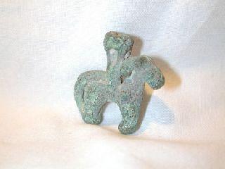 Luristan Bronze Ram & Rider 800 Bc photo