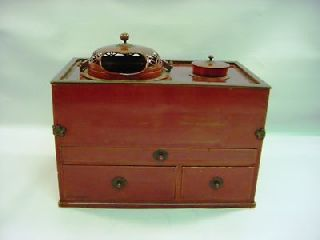 1880 ' S Japan Lacquer & Bronze Cigar/pipe Hibachi Chest photo