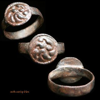 Early Medieval Bronze Ring Mels - Antiquities photo