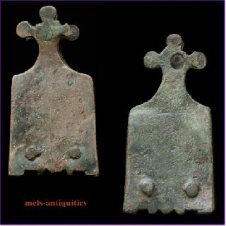 Early Medieval Bronze Strapend Mels - Antiquities photo
